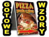 POTYKACZ 100x60 stojak GRAFIKA GRATIS bar pizzeria