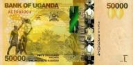 UGANDA 50000 Shillings 2010 P-54 UNC