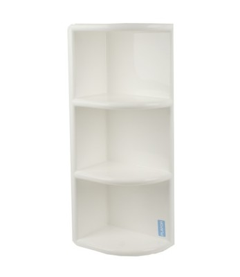 Półka Plastikowa Narożna Biała Asymetryczna 6755714339