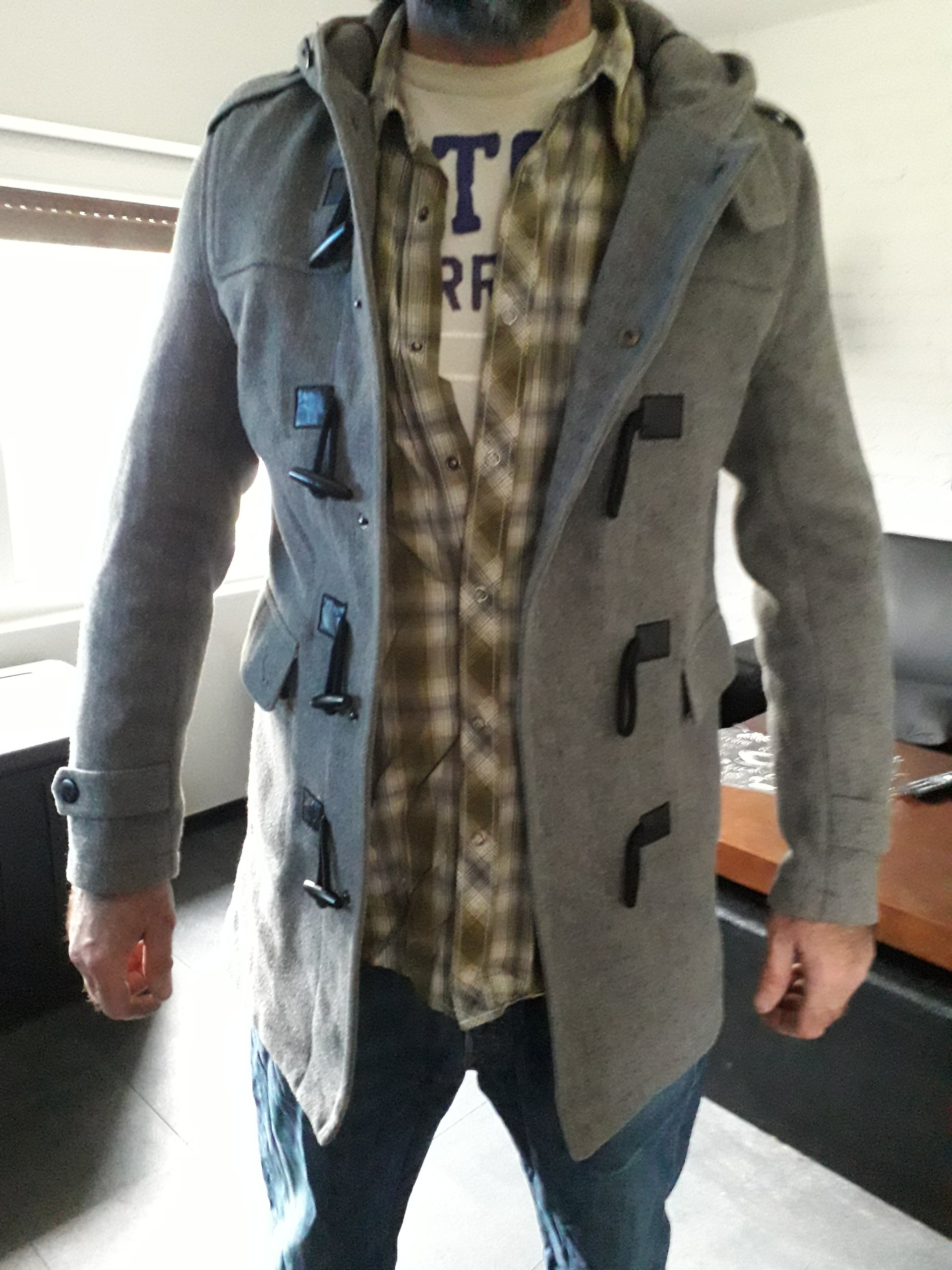 Płaszcz męski zimowy budrysówka *TOPMAN* R. M