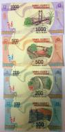 MADAGASCAR 4 szt 100-200-500-1000 ARIARY 2017 UNC