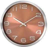 Zegar Ścienny - Metalowa Obudowa - Brązowy