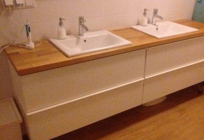 Ikea Kludi Bozz Roca Zestaw Do łazienki Szafka Dąb