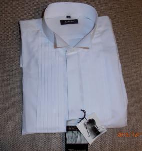 c661af6853db9c Biała koszula męska smokingowa z plisami - 45/46 - 5947641279 ...