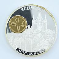 1 Rappen 2002 Szwajcaria + numizmat THUN - B287