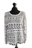 o922 Dzianinowa bluzka wzorzysta sweterek 40-42