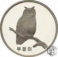 Korea 1500 Won 2007 puchacz SREBRO uncja st.L