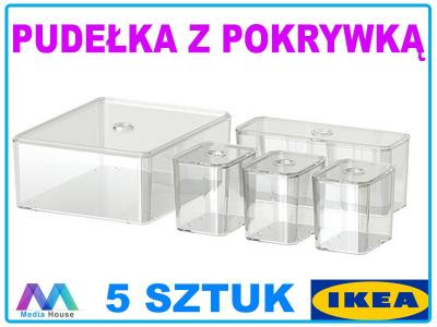 Ikea Organizer Do łazienki Pojemniki 5 Sztuk 5738946082