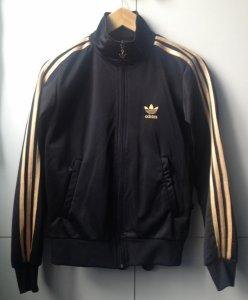 najbardziej popularny wykwintny styl niesamowity wybór bluza Adidas czarna trzy złote pasy paski 40 L