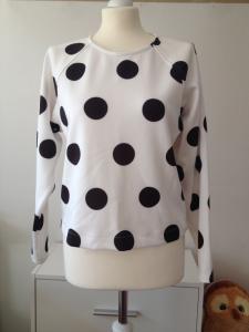 Mango MNG piankowa bluza w grochy kropki S/36