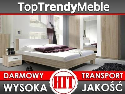 Nowoczesna Biała Sypialnia Vera Szafa łóżko 6699442484