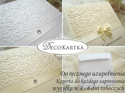 Do Ręcznego Wypisania Zaproszenia ślubne Koperta 6178506049