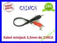 KABEL STEREO MINIJACK-2XRCA (CHINCH) M/M 20CM
