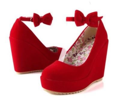 1025f51384a4c Buty koturny lolita z kokardą czarne czerwone 35 - 5803587851 ...