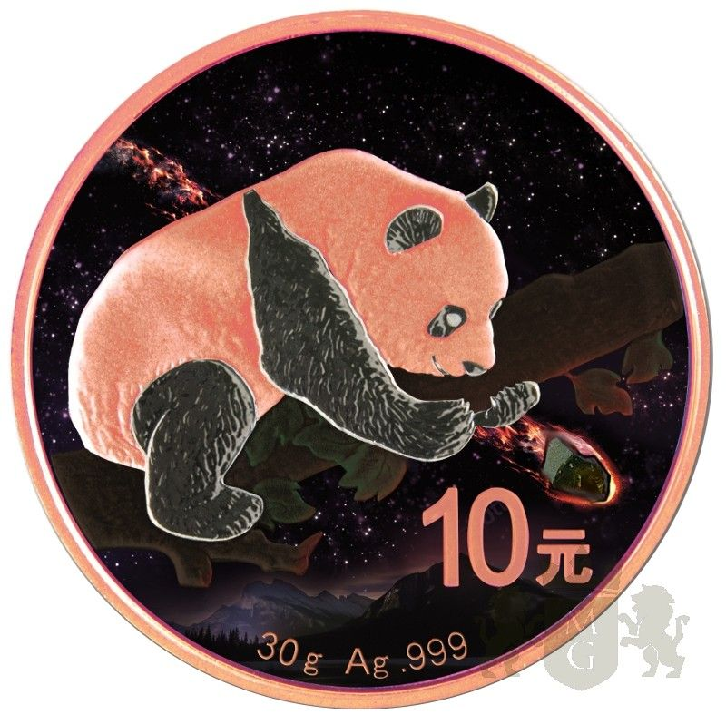 10 YUAN FUKANG METEORITE CHINA PANDA 30 G AG 999