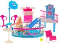 ~ Duży BASEN dla lalki zjeżdżalnia PARTY + DODATKI