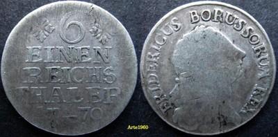 Niemcy Prusy 1/6 talara 1770 E