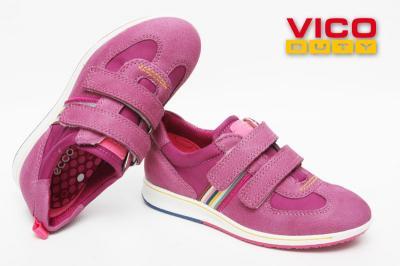 Ecco jogga Kids półbuty skórzane wysokie fiolet 33