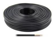 Kabel telefoniczny 2 pary / 4C - 100m - czarny