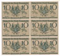 Wschowa notgeldy 1920 arkusz 6 szt. s1 UNC PIĘKNE