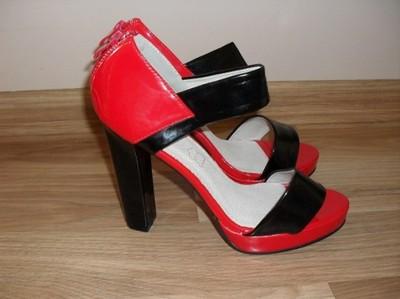 szpilki czółenka buty czerwone 39 okazja