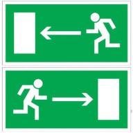 Znak kierunek do wyjścia drogi ewakuac - sklep AiT