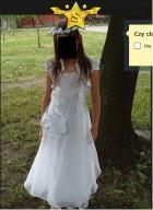 Sukienka komunijna, torebka, wianuszek, bolerko