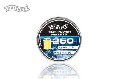 ŚRUT W SABOCIE 4,5 Walther High Power 250 szt