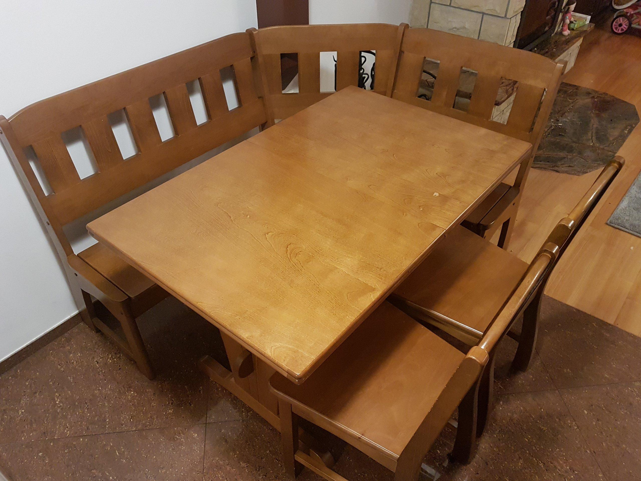 Stół Do Kuchni Narożnik Z ławką I 2 Krzesła 7014334777