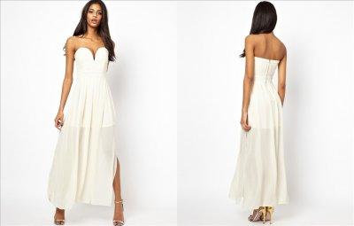 a06618ce TFNC sukienka maxi kremowa M