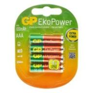 4x AKUMULATORKI GP EKO POWER AAA 650 mah 4szt