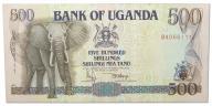 4.Uganda, 500 Szylingów 1991, P.33.a, St.2/3+