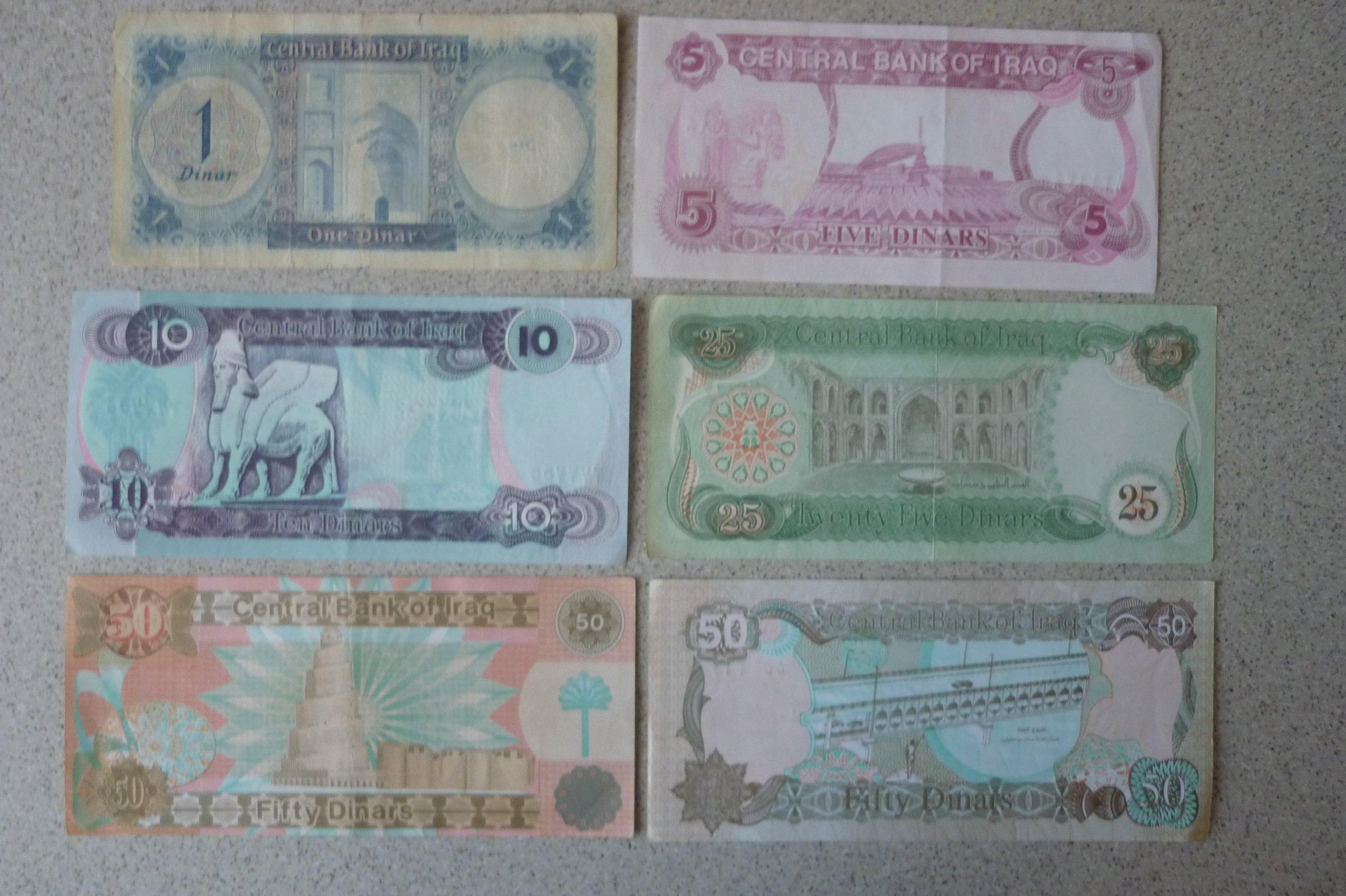 Irak - 6 banknotów