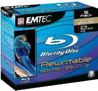 EMTEC 5PACK BD-RE 25GB 2X BLU-RAY REWRITEABLE