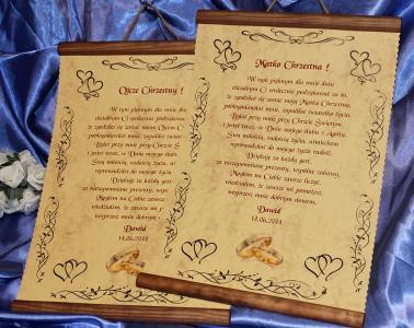 Podziękowania ślubne świadków Rodziców Chrzestnych 6090954709