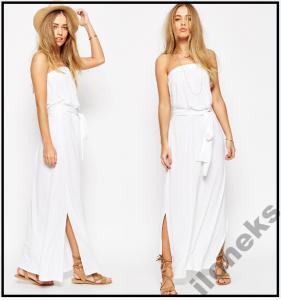 a50928244bc ASOS Zwiewna Sukienka Maxi plażowa biała Boho XL - 6023472518 ...