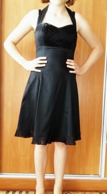 599d2550e5 Sukienka czarna elegancka wieczorowa 36 38 - 6812860483 - oficjalne ...