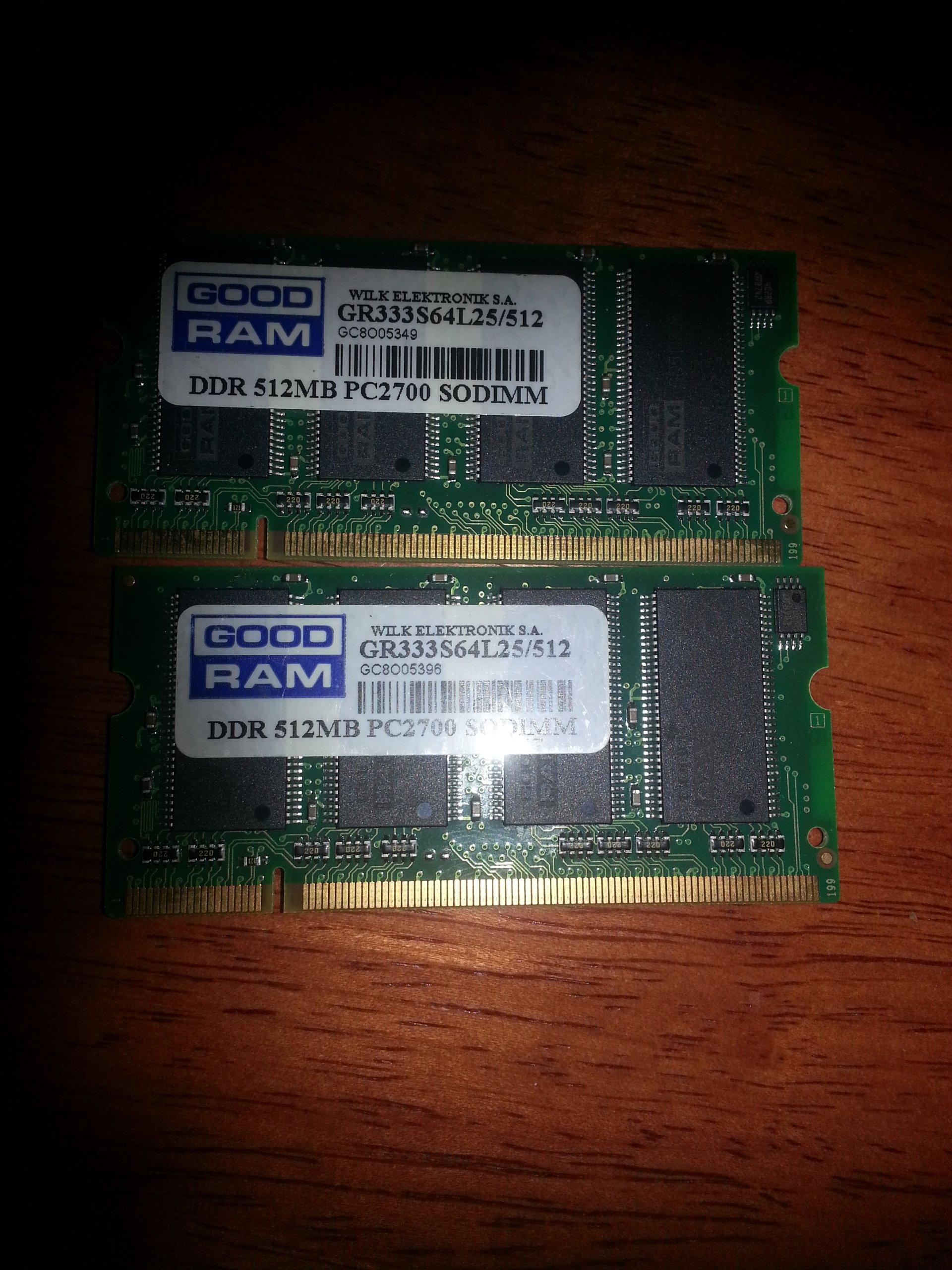 GOOD RAM DDR 512MB PC2700 SODIMM