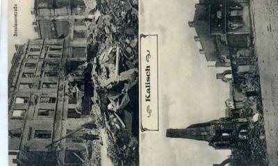 KALISZ  Zniszczenia wojenne 1915 sygn