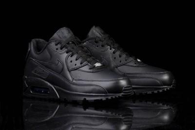 Nike air max 90 Leather Black Czarne skóra r.40 45
