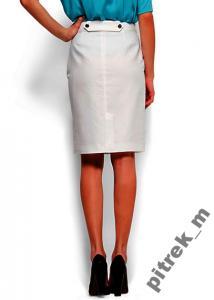 Biała spódnica ołówkowa wyższy stan, pasek rozmiar S jeans