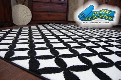 Dywany łuszczów Sketch 80x150 Czarny Romby Gr1713