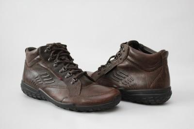 ECCO - skórzane buty za kostkę r. 46