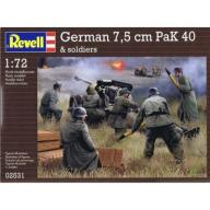 German pak 40 with soldiers 1/72