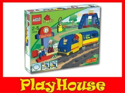 Klocki Lego Duplo Jeżdżący Pociąg Kolejka 5608 2859990644
