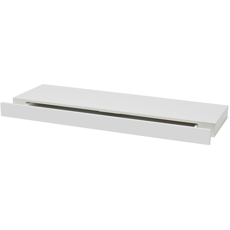 Półka Z Szufladą Biała Modern Wisząca Momax B2c558