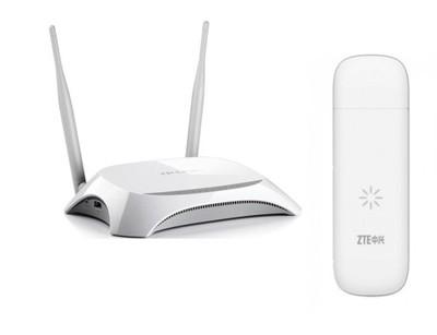 Modem LTE ZTE MF823+Router WiFi TP-Link MR3420