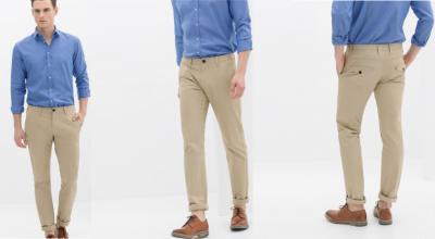 zara spodnie chinosy męskie