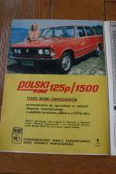 POLSKI FIAT 125p / 1500 PLAKAT / Motor 1976
