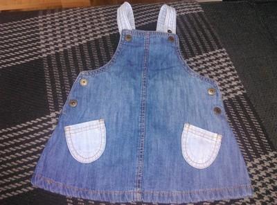 Next sukienka jeans roz.6-9m